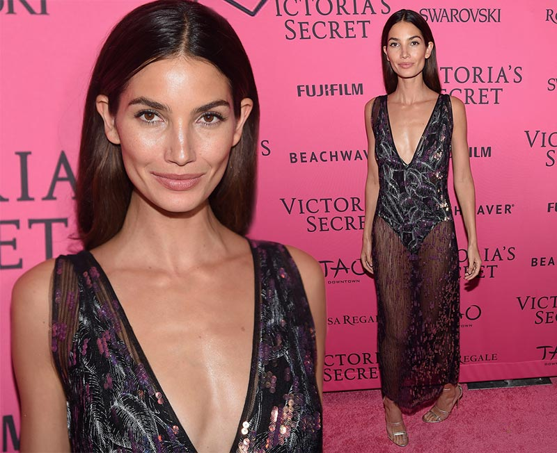 Victoria's Secret Fashion Show 2015 Pink Carpet: Lily Aldridge