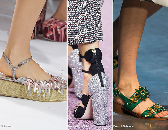 Spring/ Summer 2016 Shoe Trends: Shoes with Glittery Embellishements