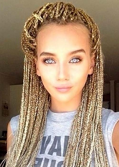 Awesome Box Braids Hairstyles: Blonde Box Braids