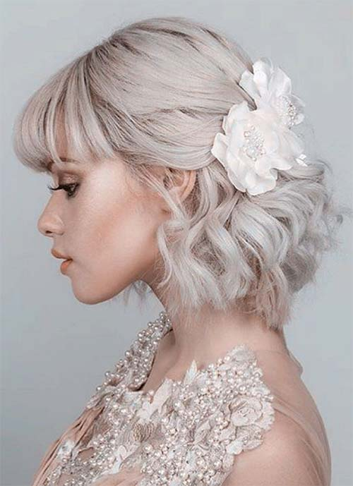 Short Hairstyles for Women: Bridal Bob