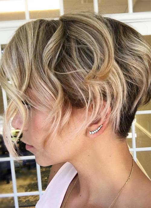 Short Hairstyles for Women: Curly Blonde Pixie