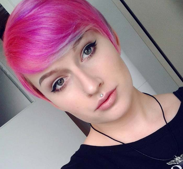 Short Hairstyles for Women: Pink Pixie