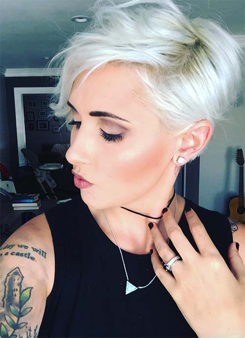 Short Hairstyles for Women: Platinum Pixie