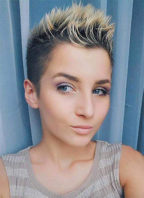 Short Hairstyles for Women: Spiked Pixie