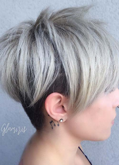 Short Hairstyles for Women with Thin/ Fine Hair: Layered Pixie Cut