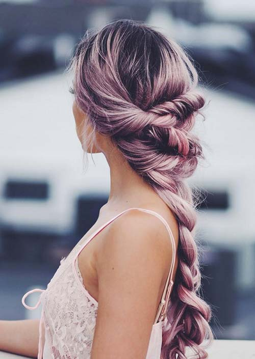 100 Trendy Long Hairstyles for Women: Twisted Braid