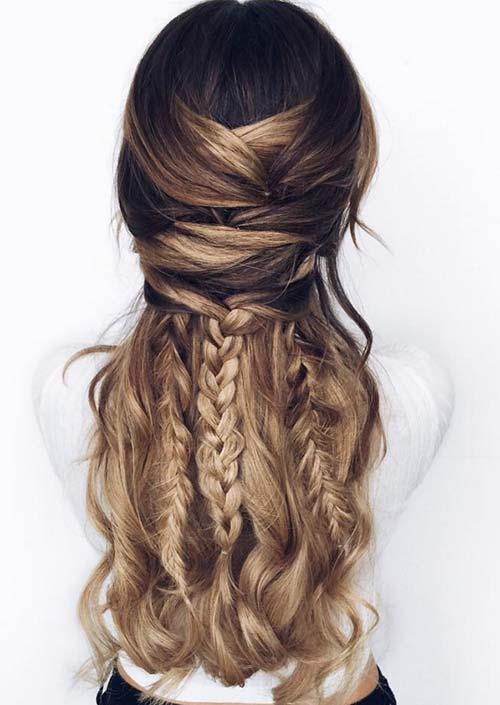 100 Trendy Long Hairstyles for Women: Boho Braids