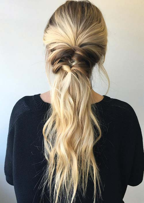 100 Trendy Long Hairstyles for Women: Wide Partial Braid