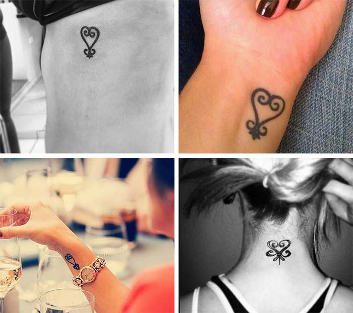 Cute Small Tattoos For Girls With Their Meanings: Tiny African Sankofa Tattoos