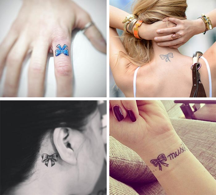 Cute Small Tattoos For Girls With Their Meanings: Tiny Bow Tattoos