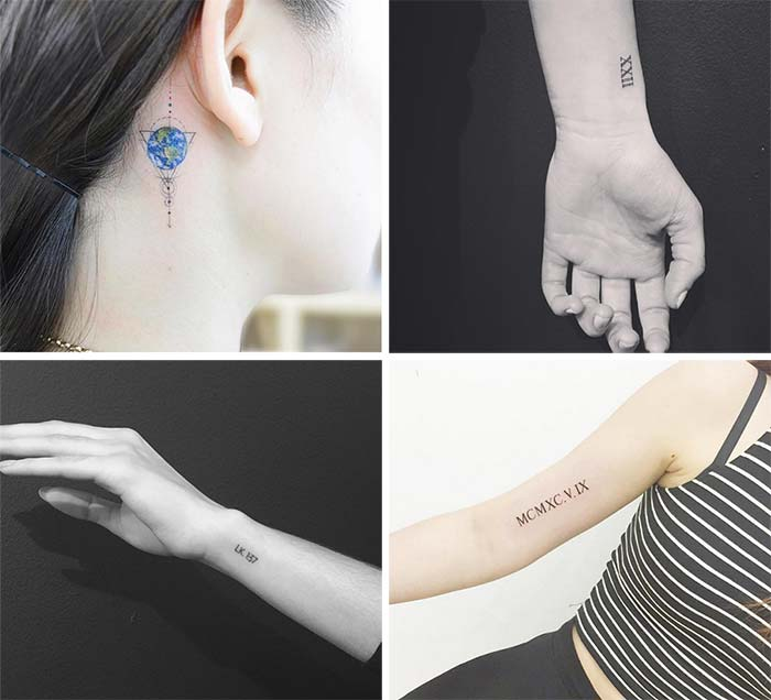 Cute Small Tattoos For Girls With Their Meanings: Tiny Coordinates Tattoos