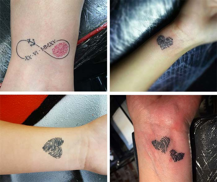 Cute Small Tattoos For Girls With Their Meanings: Tiny Fingerprint Tattoos