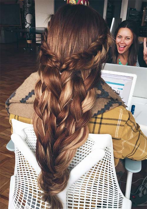 100 Ridiculously Awesome Braided Hairstyles: Long Braids