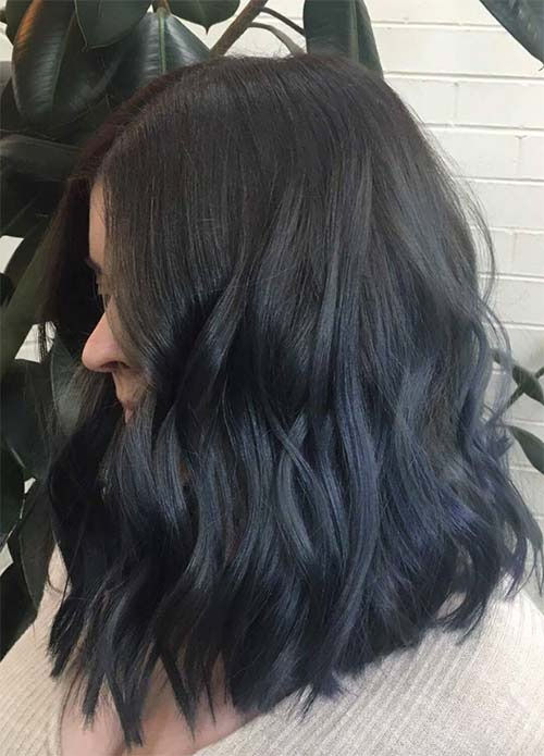 Blue Denim Hair Colors: Subtle Navy Denim Hair