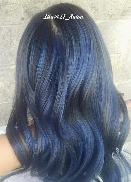 Blue Denim Hair Colors: Romantic Metalhead