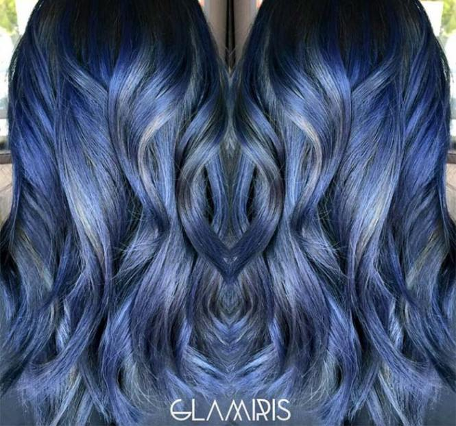 Dying black hair blue highlights the best black hair 2017 blue highlights on dark brown hair the best 2017 pmusecretfo Gallery