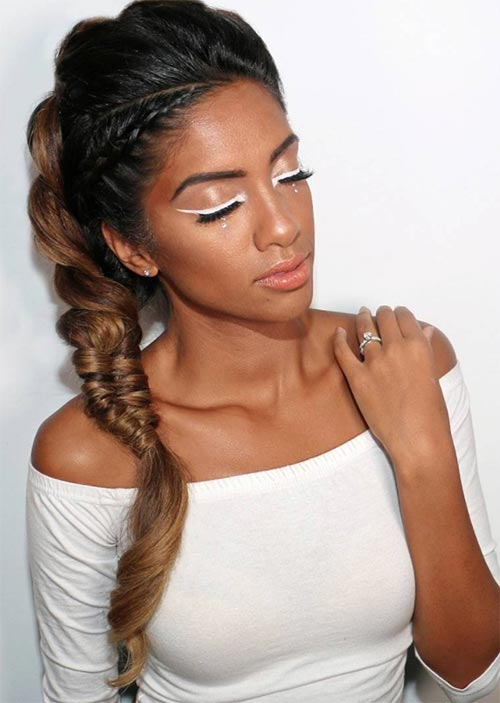 Pretty Holiday Hairstyles Ideas: Combo Braided Updo