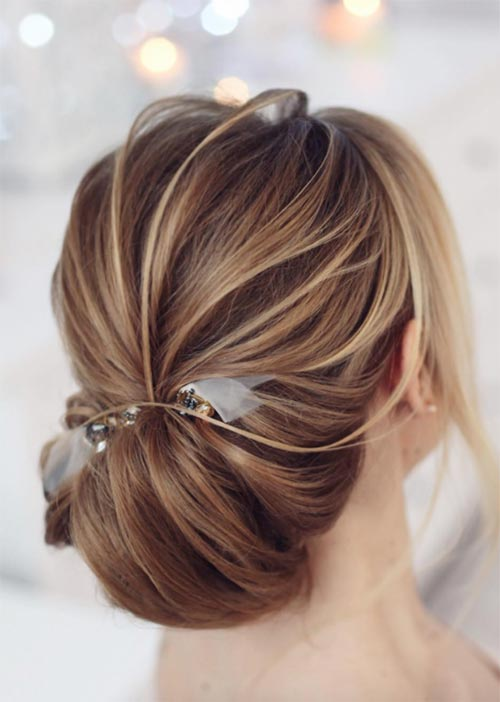 Pretty Holiday Hairstyles Ideas: Low Pinned Bun