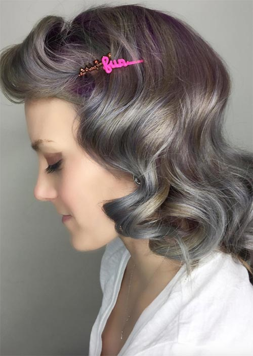 Pretty Holiday Hairstyles Ideas: Wavy Retro Pin-Up Hairstyle