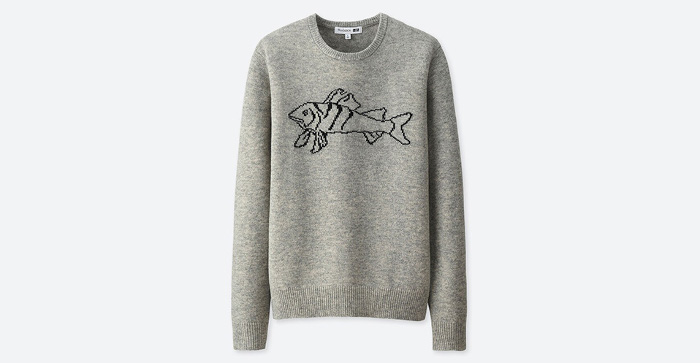 J.W. x Uniqlo Collaboration Graphic sweater