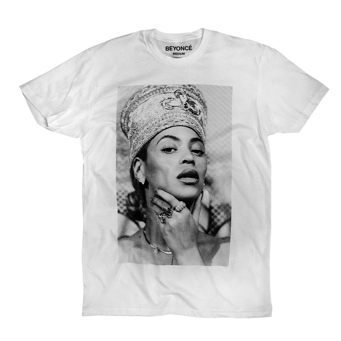 Beyoncé Dropped Nefertiti-Inspired Merch white tee
