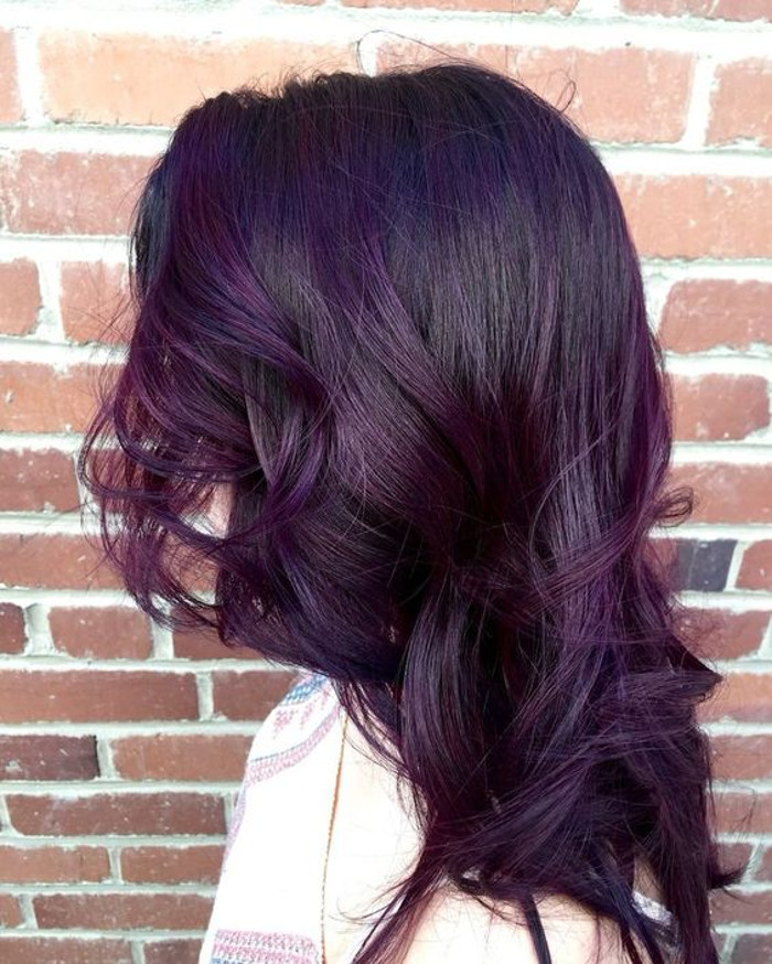 Blackberry Hair is the Unexpected Spring Hair Color Trend purple hair