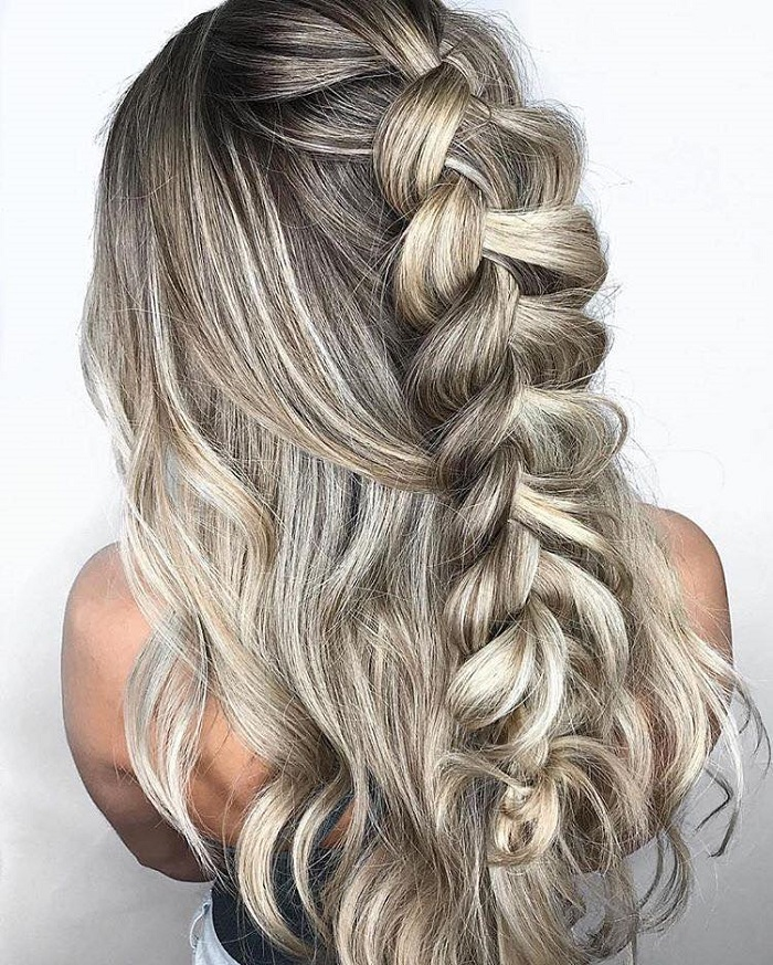 Effortlessly Cool Half-Up Dos Ideal for Hot Days half up messy braid
