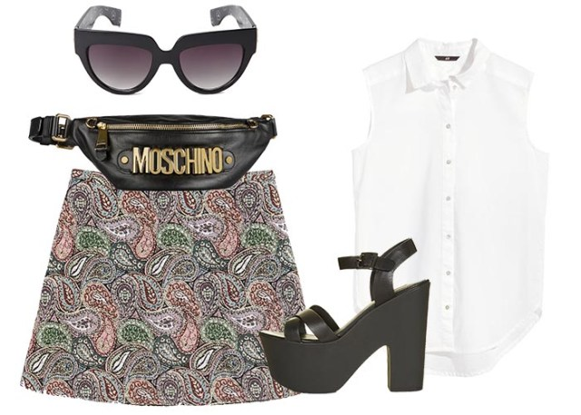 Moschino leather belt bag ook wel een Moschino fanny pack of heuptasje genoemd. Musthave 2015 accessoires.Alles over dit heuptasje/ fanny pack hier.