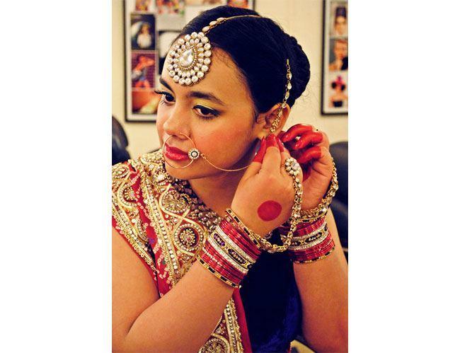 The Beautiful Gujarati Bride Bridal Hairstyle Bridal