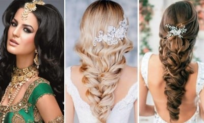 wedding hairstyles for long hair western indian bridal hairstyles