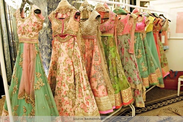 Designer Floral Lehengas For Weddings