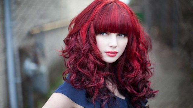 red and black hairstyles - the latest color trend that we're