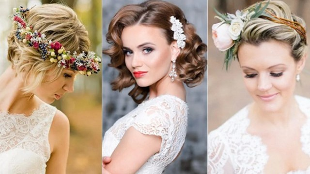 wedding hairstyles for short hair brides tying the knot this