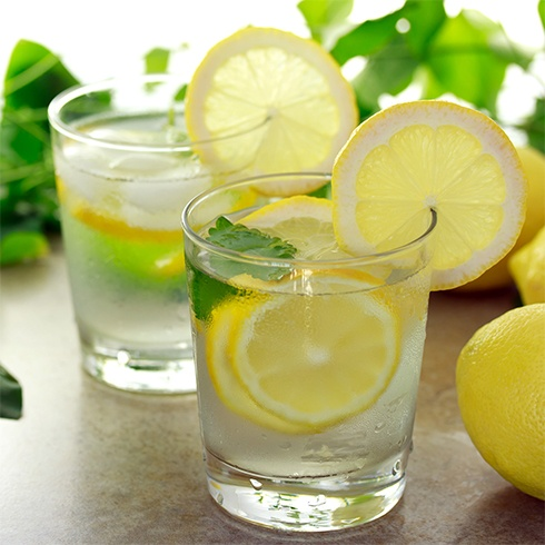 Lemon and Basil Infused Water Recipe