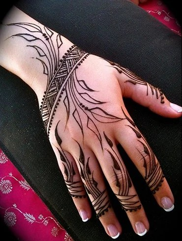 Tattoos for Girls on Hand with Leaf Vein