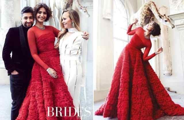 Sonam Kapoor in Red Ralph and Russo outfit