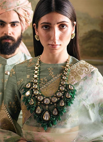 Sabyasachi Emerald Necklace