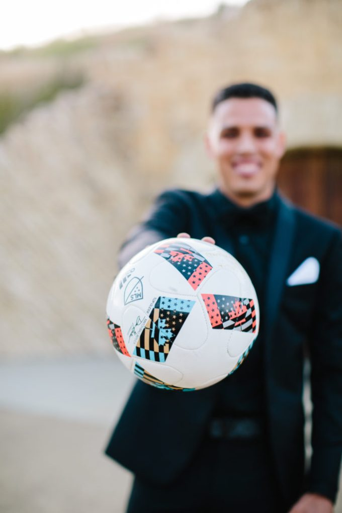 A Soccer Star and Fashion Blogger Share Their Santa Barbara Wedding