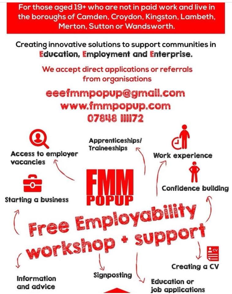 fmm pop up education employment and enterprise fashion meets