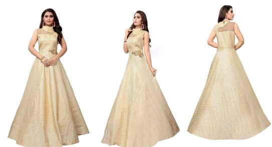 Gunjfashion Present Women' Designer Party wear Long Gown