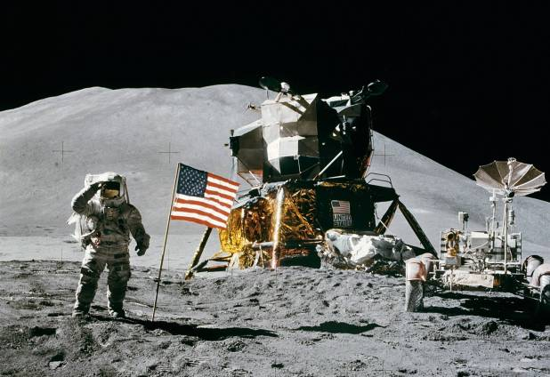 Gradually Increase the Number of Us Citizen Become  Astronaut Gradually Increase the Number of Us Citizen Become  Astronaut Gradually Increase the Number of Us Citizen Become  Astronaut Apollo 15 flag rover LM Irwin cropped