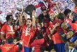 copa america in defending champions beat chile Copa America in Defending Champions Beat Chile 1436052362509 lc galleryImage Chilean players celebrate