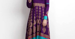 Women's Kurta Shalwar Kameez Online in Pakistan Women's Kurta Shalwar Kameez Online in Pakistan women purple gold printed anarkali kurta