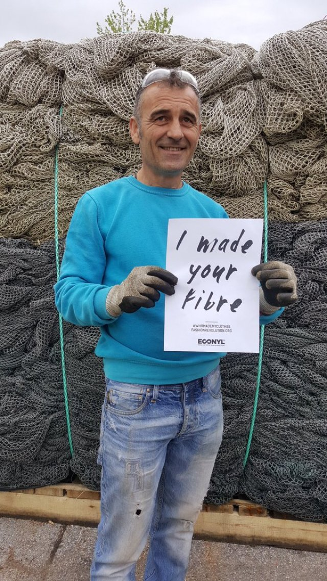 this is Ivo with some nets to be turned into #ECONYL yarn