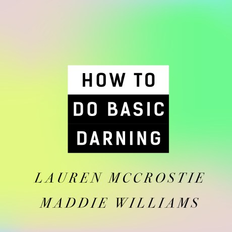 Video: How to do basic darning