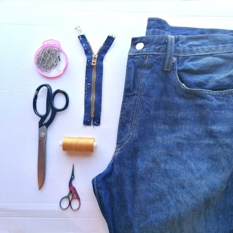 A Beginner's Guide to Mending Your Jeans