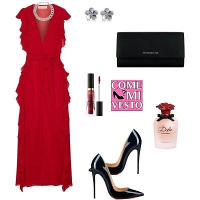 outfit capodanno in rosso