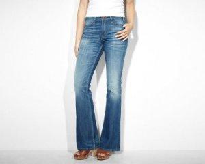 jeans a zampa di elefante per donna a pera