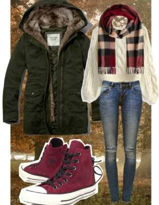outfit parka