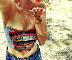 Miley Cyrus wear Rad + Refined Bikini in Costa Rica